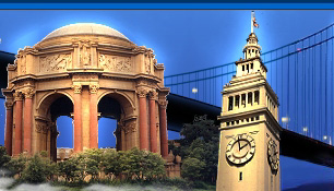 Palace of Fine Arts and Ferry Tower, San Francisco